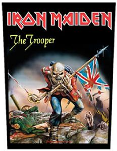 Iron Maiden The Trooper jumbo sized sew-on cloth backpatch  (mm)